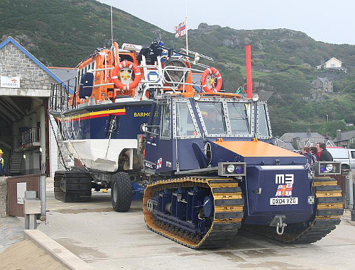 Barmouth Lifeboat and Tractor