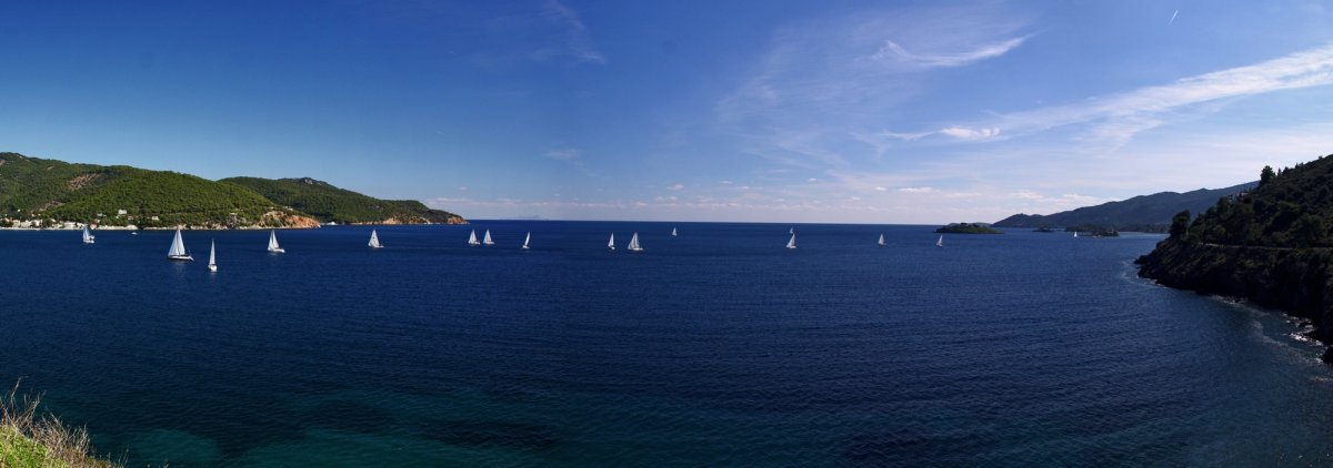 Greek Sails Panorama