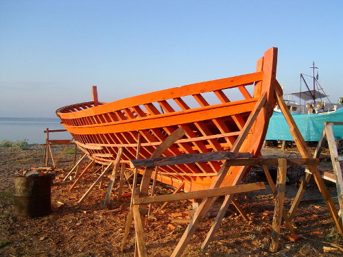Frame of Wooden Ship