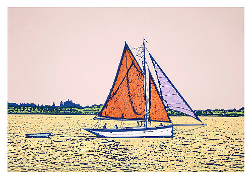 Summer Sailing version 2 by Talia Russell